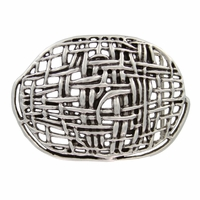 Antique Silver Mesh Belt Buckle