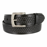 "10311 Boston Basketweave Men's Work Uniform Casual Belt 1 1/2"" Wide - Black"