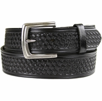 "10311 Boston Basketweave Men's Work Uniform Casual Belt 1 1/2"" Wide-Black"