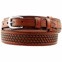 10571 Western Basketweave Ranger Belt - Tan