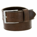 """10699051 Men's One Piece Full Leather Casual Jean Belt 1-1/2"""" wide - Brown"""