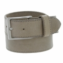 """10699051 Men's One Piece Full Leather Casual Jean Belt 1-1/2"""" wide - Taupe"""