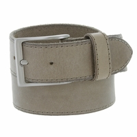 "10699051 Men's One Piece Full Leather Casual Jean Belt 1-1/2"" wide - Taupe"