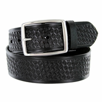 "10854 Reno Basketweave Men's Work Uniform Belt 1 3/4"" Wide-Black"