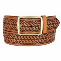 "10856 Reno Basketweave Men's Work Uniform Belt 1 3/4"" Wide-Tan"