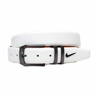 1104204 Nike Golf Laser Etched Buckle White Belt