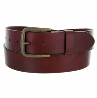 "11082055 Men's Burgundy Wine Work Casual Jean Belt 1-1/2"" Wide"