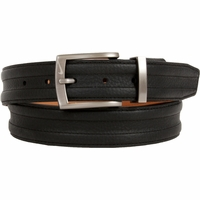 1108401 Nike Golf Tour Men's Trapunto G-Flex Leather Belt Black