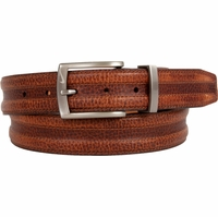 1108402 Nike Golf Tour Men's Trapunto G-Flex Leather Belt Brown