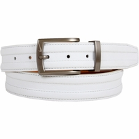 1108404 Nike Golf Tour Men's Trapunto G-Flex Leather Belt White