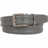 1108409 Nike Golf Tour Men's Trapunto G-Flex Leather Belt Grey
