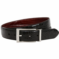 1112320 Nike Golf Tour Men's Crocodile Embossed Reversible Leather Belt Black/Brown