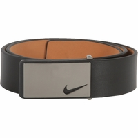 1118701 Nike Golf Tour Men's Sleek Modern Plaque Leather Belt Black
