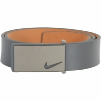 1118709 Nike Golf Tour Men's Sleek Modern Plaque Leather Belt Grey