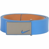 11187244 Nike Golf Tour Men's Sleek Modern Plaque Leather Belt Military Blue