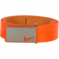 11187246 Nike Golf Tour Men's Sleek Modern Plaque Leather Belt Turf Orange