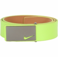 11187247 Nike Golf Tour Men's Sleek Modern Plaque Leather Belt Venom Green