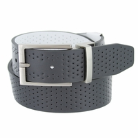 11188156 Nike Golf Tour Men's Perforated Reversible Leather Belt Dark Grey/White