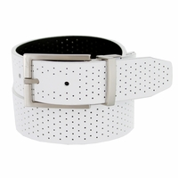 1118853 Nike Golf Tour Men's Perforated Reversible Leather Belt White/Black