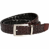 1119221 Nike Golf Tour Men's Braided G-Flex Reversible Leather Belt Black/Brown