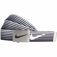 1119701 Nike Golf Sport Men's Speed Stripe Reversible Web Belt Black