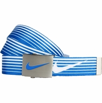 11197244 Nike Golf Sport Men's Speed Stripe Reversible Web Belt Military Blue