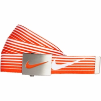 11197246 Nike Golf Sport Men's Speed Stripe Reversible Web Belt Turf Orange