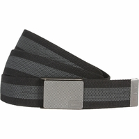 1119801 Nike Golf Sport Men's Rubber Inlay Reversible Web Belt Black