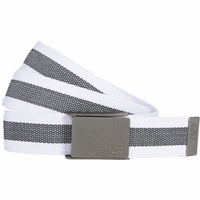 1119804 Nike Golf Sport Men's Rubber Inlay Reversible Web Belt White