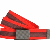 11198255 Nike Golf Sport Men's Rubber Inlay Reversible Web Belt Lt. Crimson