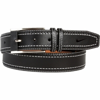 1120401 Nike Golf Tour Men's Perforated Edge Premium Leather Belt Black
