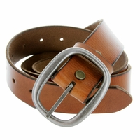"1174 Men's One Piece Full Grain Leather Casual Jean Belt 1-1/2"" wide - Tan"