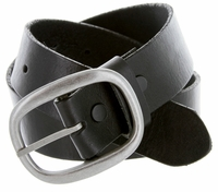 "1174 Men's One Piece Full Leather Casual Jean Belt 1-1/2"" wide - Black"
