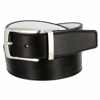 1207525 Tiger Woods Embossed Reversible Leather Golf Belt Black/White