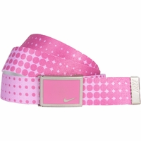 13088264 Nike Golf Sport Women's Dot Print Web Belt Red Violet