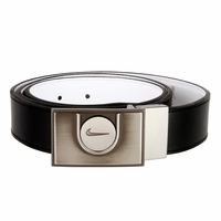 1412725 Nike Golf Ball Marker Genuine Leather Reversible Belt Black/White