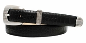 "1582 Italian Leather Designer Dress Belt 1"" Wide"