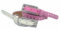 "1635 Rhinestone Dress Belt 3/4"" Wide"