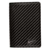 1688501 Nike Golf Tour Performance Carbon Fiber Texture Credit Card Fold - Black