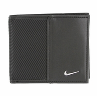 1688801 Nike Golf Sport Men's Leather Tech Twill Billfold Wallet Black