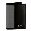 1688909 Nike Golf Sport Men's Leather Tech Twill Card Case With Clip Grey/Black