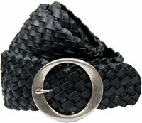 "1709 Black Basketweave 2.5"" Tapered to 2"" Belt"