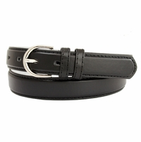"188 Black Women's Dress Belt 1-1/8"" Wide"