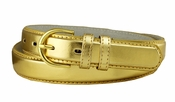 "188 Gold Women's Dress Belt 1-1/8"" Wide"