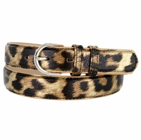 "188 Leopard Women's Dress Belt 1-1/8"" Wide"
