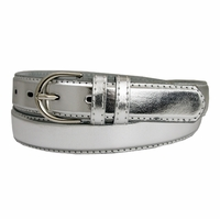 "188 Silver Women's Dress Belt 1-1/8"" Wide"