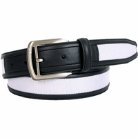 2012 Nike Black G-Flex Ballistics White Nylon Leather Belt 1111004