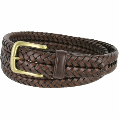 20150 s braided woven leather dress belt 1 1 4 quot 32mm