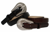 "2075 Women's Dress Leather Belt 3/4"" Wide"