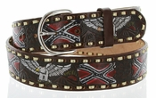 "2250 Eagle Western Embossed Belt 1.5"" or 38mm Wide -Brown"